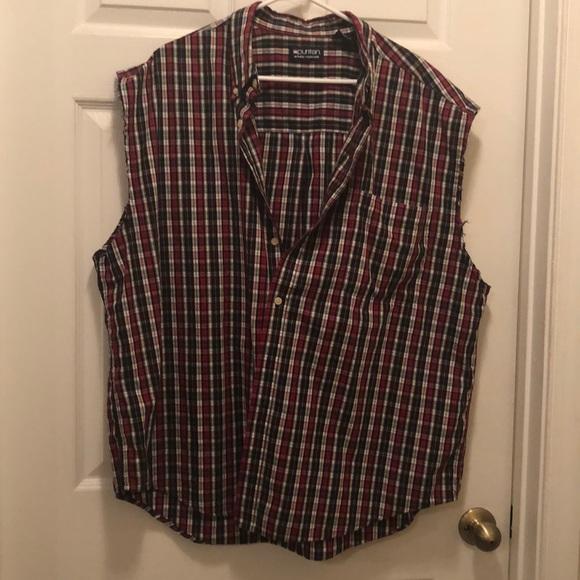 Puritan Other - Puritan plaid men's flannel cutoff summer shirt